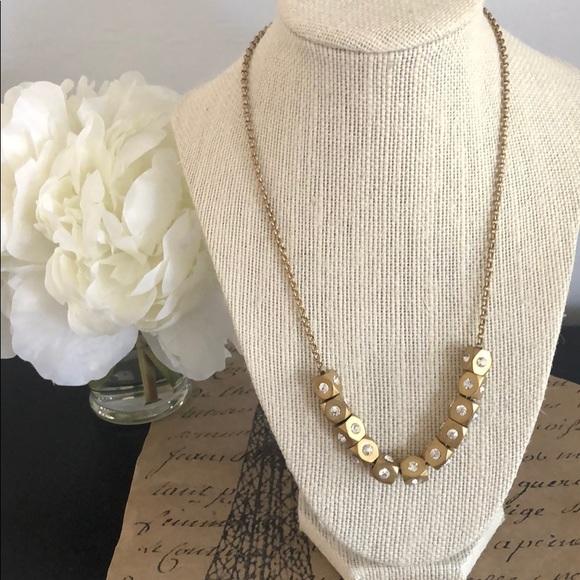 J. Crew Gold Bead Necklace